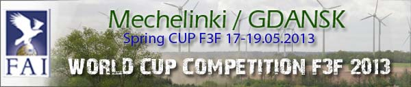 Puchar Wiosny F3F 2013 Eurotour / Spring CUP F3F 2013 WORLD CUP – Mechelinki POLAND